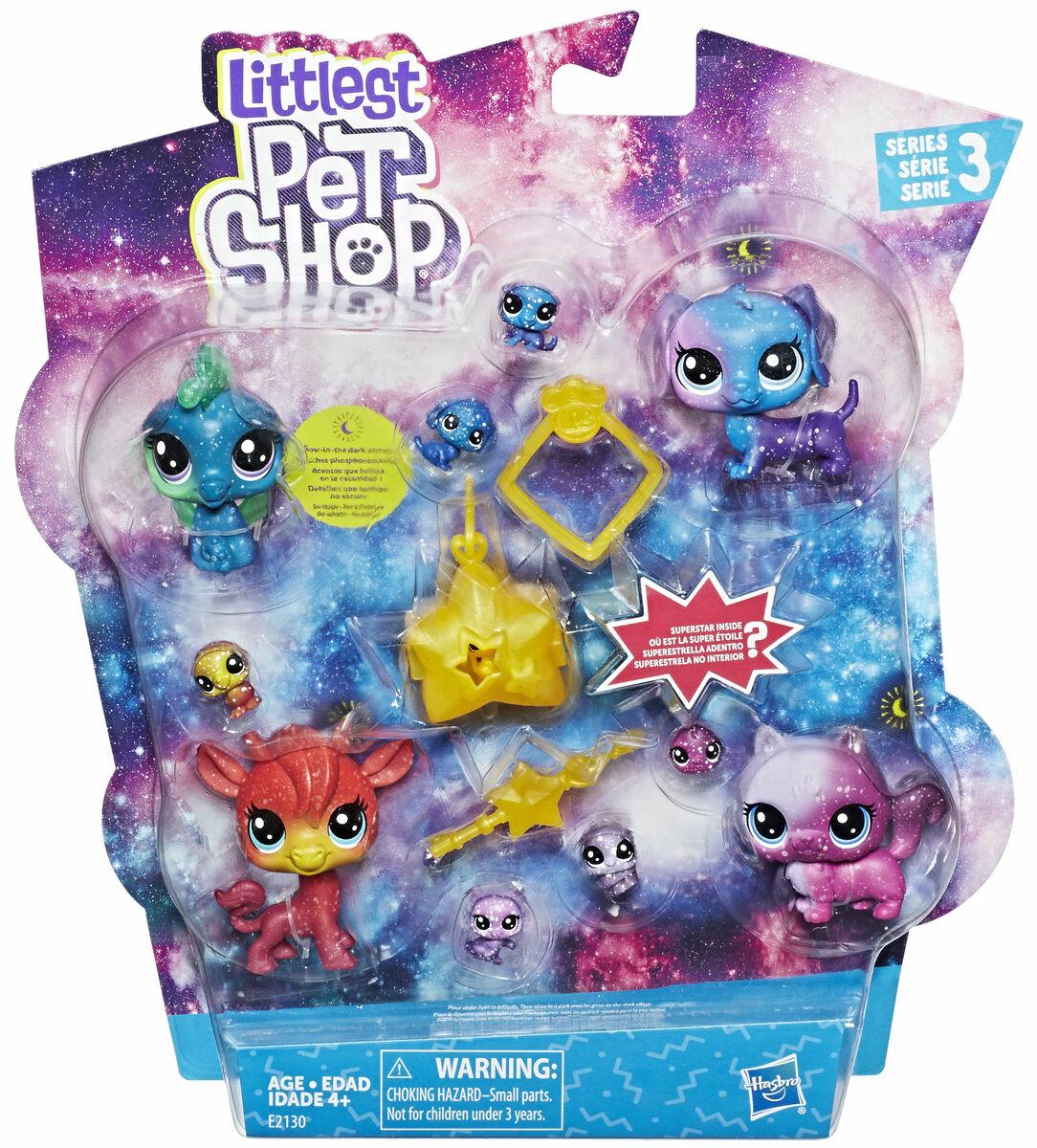 Littlest Pet Shop Cosmic collection pack sisältää 4 klassisen ... 7116401ee2