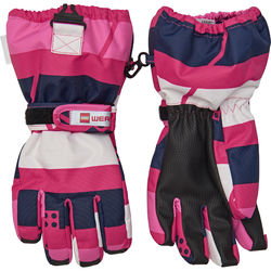 Lego Wear Tec hanskat, Aiden 704 dark pink