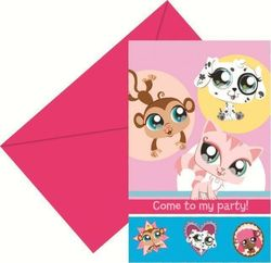 Littlest Pet Shop kutsukortit+kuoret