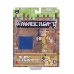 Minecraft Action Figuuri, Alex in golden armor