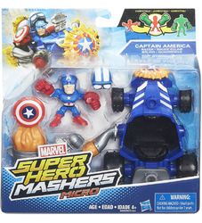 Marvel Super Hero Mashers figuuri&kulkuneuvo, Captain America