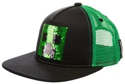 Minecraft Creeper Sequin Snap Back