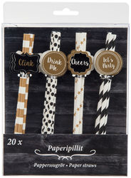 Paperipillit koristeella 20kpl, Let´s Party!