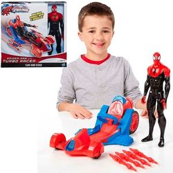 Spiderman Web Racing Car figuuri ja ajoneuvo