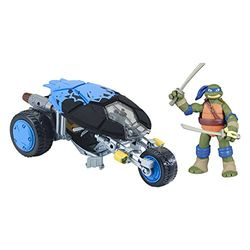 Turtles Ninja Stealth Bike ajoneuvo ja figuuri, Leonardo