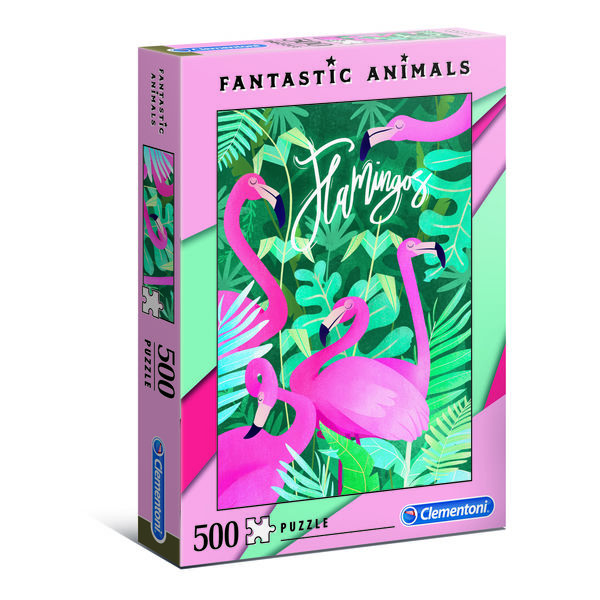 Fantastic Animals palapeli 500 palaa, Flamingot