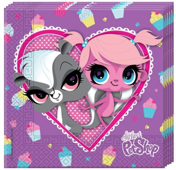 Littlest Pet Shop lautasliina 20kpl